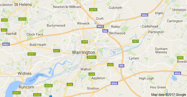 warrington window and door repairs map